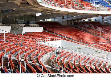 Stadium Seats - Image of colourful empty stadium seats.