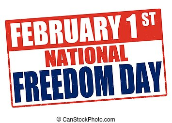 National Freedom Day stamp
