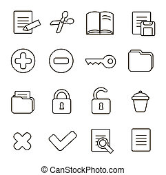 Navigation icon set illustration of different interface web...