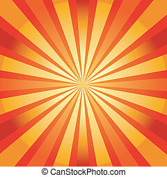 Abstract  background with sunburst (vector)