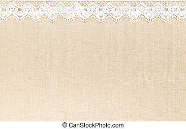 Lace border over Fabric textile texture design for...