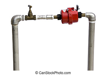 Water Supply Meter - Isolated image of a water supply meter.