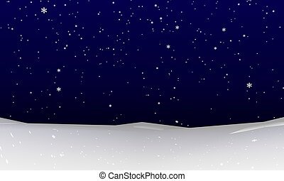 Abstract Snowfall Background - Abstract winter snowfall....