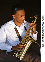 Hip Young Saxophonist - An youung and trendy...