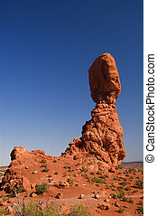 Balanced Rock Arches NP - Natural red rocks at Arches...