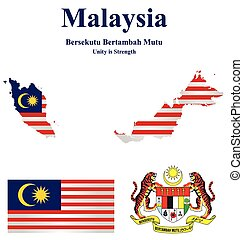 Malaysia Flag - Flag and national emblem Malaysia which...