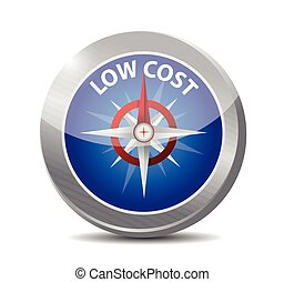 low cost compass illustration design over a white background...