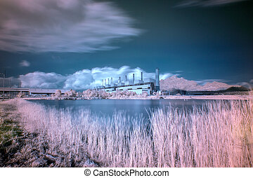 Coal fired power plant with  infrared style
