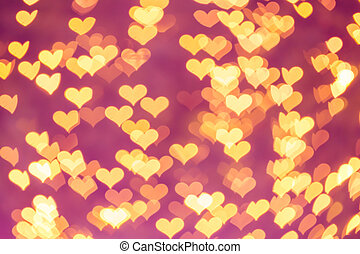 bokeh - heart bokeh as valentine's day background