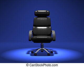 Business Chair On Blue Background 3D render Animation For...