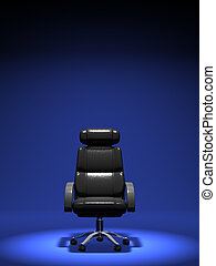 Business Chair On Blue Background - Business Chair On Blue...
