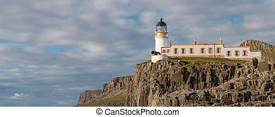 Neist Point Lighthouse - Lighthouse on the cliffs of Neist...
