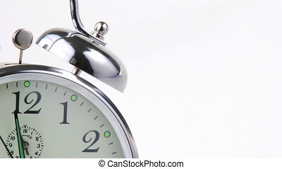 Alarm clock footage. - High view of an alarm clock footage....