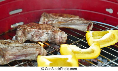 Barbecue Grill At Weekend