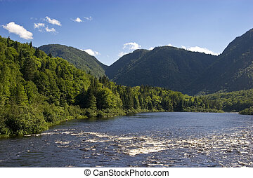 jacques cartier river - savage river in canada
