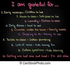 I am gratefuls for - Sketched motivational words