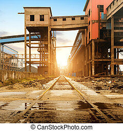 Steelworks rail transport - Iron and steel industry...