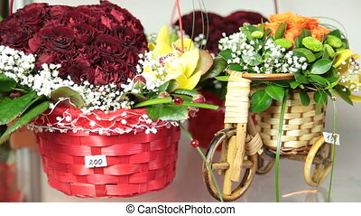 Floral arrangements and bouquets for Valentine's Day