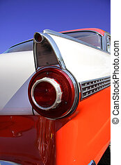 Classic Car - Close up shot of tail lamp of a muscle car