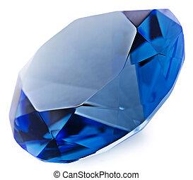 Sapphire gemstone isolated on white background - Isolation...