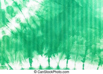 tie dye batik - Green tie dye batik fabric for background...