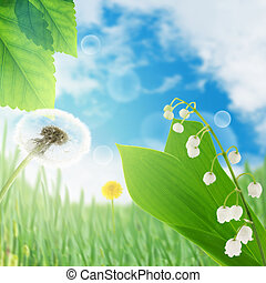 lily of the valley - bouquet of may-lily . Spring nature...