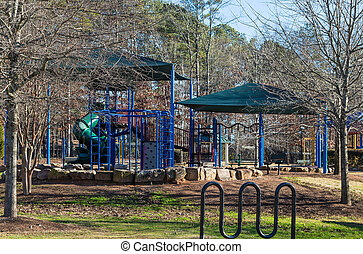 Bright Blue Playground in Winter Park