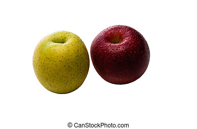 Red and Green Apples - Red and Green apples isolated on a...