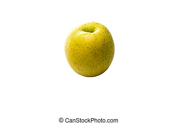 Granny Smith Apple - Isolated Granny Smith apple on a white...