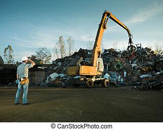 scrap metal landfill