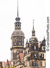 Historic Tower in Dresden (Saxony, Germany)