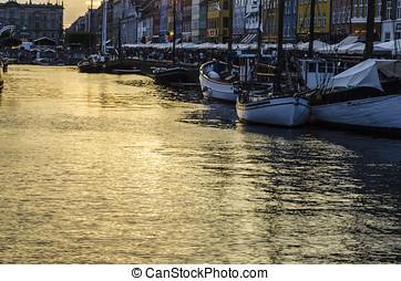 Copenhagen view - Harbor in Copenhagen, Denmark