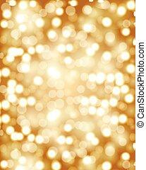 Golden bokeh background - Golden bokeh. Golden background....