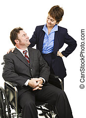 Disability in Business - Disabled businessman in wheelchair...