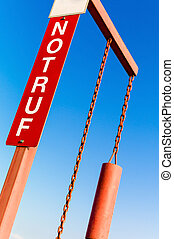 sign with lettering emergency - emergency sign, symbol photo...