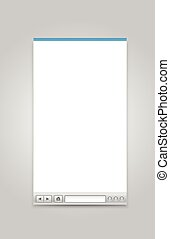 Opened browser windows template