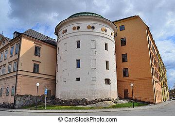 Stockholm. Old architecture on Riddarholmen - Stockholm,...
