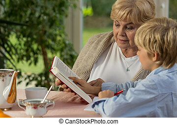 Study with grandmother