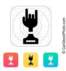 Rock award icon on white background Vector illustration