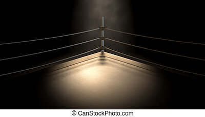 Classic Vintage Boxing Ring Corner - A closeup of the corner...