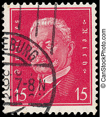 Stamp printed in Germany shows Paul - GERMANY - CIRCA 1928:...