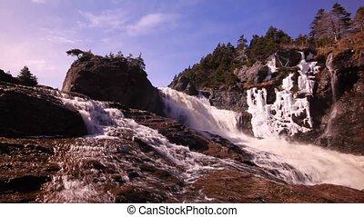 Waterfall in winter.