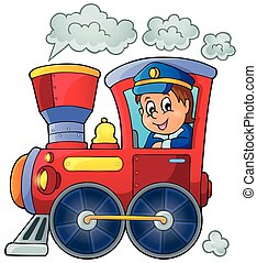 Image with train theme 1 - eps10 vector illustration.