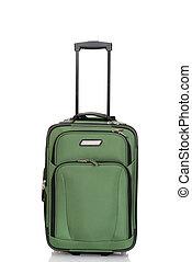 vert, valise,