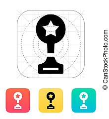 Cup icon on white background. Vector illustration.
