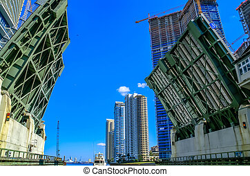 Bascule Bridge in Miami, Florida