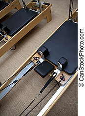 Gym equipment - Wooden and leather equipment in a gym