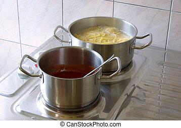 cooking spaghetti 11