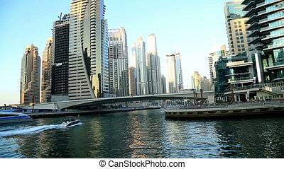 A view of the Dubai Marina - Dubai Marina Life at sunset