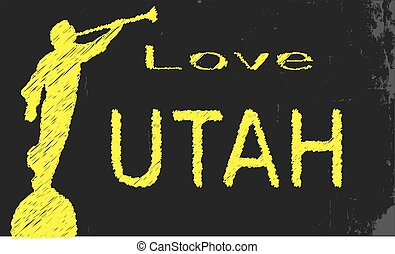 Love Utah Blackboard - A blackboard with the chalk words...
